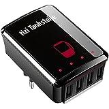 equinux tizi Tankstelle - Mehrfach USB Ladegerät Universal (5A) als Reisenetzteil für die Steckdose