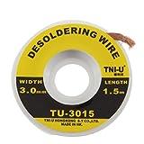 tni-u tu-3015Sicherheit 5ft. 3mm Entlötlitze Solder Remover Wick