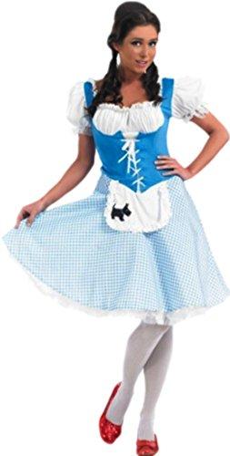 Karnevalsbud - Damen Dorothy Kleid, Märchen Kostüm, Karneval, Fasching, M, Blau