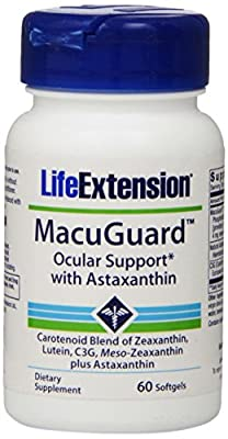Life Extension MacuGuard Ocular Support with Astaxanthin (60 Softgels)