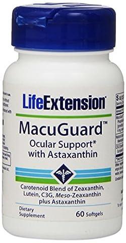 Super Zeaxanthin with Lutein MesoZeaxanthin Plus Astaxanthin and C3G 60 softgels