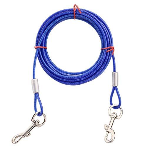 Tie-Out Leinen Hofleine für Hunde, Pet Spiralförmiger Pflock und Leine mit Anti-Winding Metall Ring Hunde Run Kette für Kleine Mittlere oder Große Hunde ()