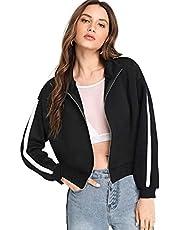 Fabricorn Plain Black Sweatshirt for Women (Black)