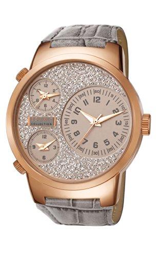 Esprit Damen-Armbanduhr Polydora Analog Quarz Leder EL190482F05