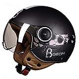 Casco Moto Casco moto vintage Jet Capacetes De Motociclista Vespa Cascos Para Moto Cafe Racer Open Face Shine