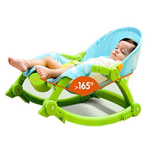 ADZPAB Babystuhl Comfort Light Faltwippe Schaukel Liegestühle Beruhigende Vibration Baby Schaukel Multi-Funktions-Liegefläche