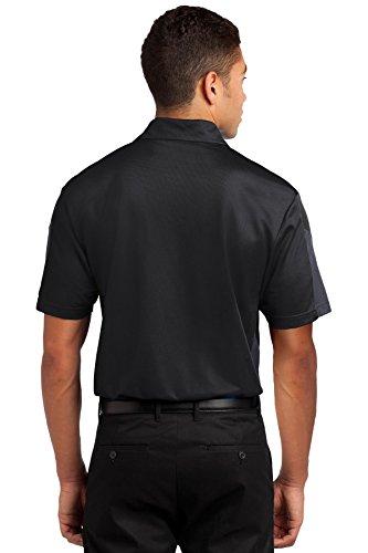 Sport-Tek Herren Button-down Poloshirt schwarz / grau