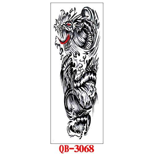 adgkitb Full-Arm Big Picture Tattoo Aufkleber QB-068 17x48cm