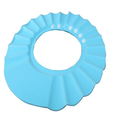 Minetom 1 Stück Sichere Einstellbar Shampoo-Dusche Bade Schützen Weiche Mütze Hut für Baby Kind ( Blau )