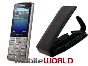 MobileWorld Coque à rabat Étui Pochette Housse pour SAMSUNG UTOPIA S5610 BLACK