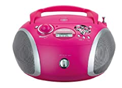 Idea Regalo - Grundig RCD 1445 USB, Radio Lettore CD Mp3, Rosa/Argento