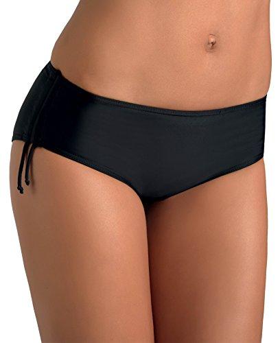 Gwinner Höschen Badehose Bikini Hose Slip Damen - zum Binden - elastisch - Schutz vor UV und Chlor - Strand, Meer, Schwimmbad - Hiphugger, schwarz, 38