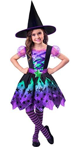 Fancy Me Girls Kleinkinder Süß Ombre Hexe Halloween Weltweit Buch Day Woche Tv Buch Folie Karneval Maskenkostüm Ausstattung mit Hat 2-8 Years - 3-4 Years (Halloween 3-5 Bücher, Noten)