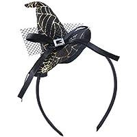 DoMoment Bruja de Navidad Cabeza Hebilla Accesorios de Halloween Colorido Sombrero de Bruja Diadema Traje de Moda Vestir Accesorios para Fiesta