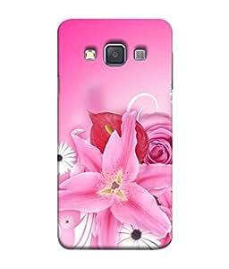 Samken Pink Flower Designer Printed Back Cover Case For Mobile Phone :: Samsung Galaxy A7 (2015) :: Samsung Galaxy A7 Duos (2015) :: Samsung Galaxy A7 A700F A700Fd A700K/A700S/A700L A7000 A7009 A700H A700Yd (Printed, Slim Fit, Shock Proof, Hard Plastic, Matte Finish)