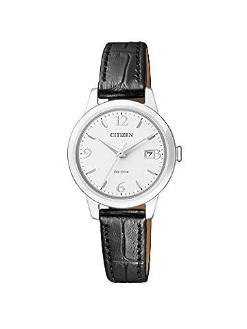 Citizen Damen-Armbanduhr Analog Quarz Leder EW2230-05A