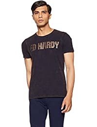 Ed Hardy Men's Solid Regular Fit T-Shirt