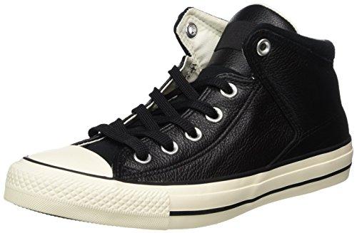 Converse Unisex-Erwachsene Ctas High Street HI Black/Egret Hohe Sneaker, Schwarz (Black/Black), 42 EU