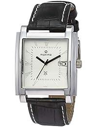 Maxima Analog White Dial Men's Watch-23030LMGI