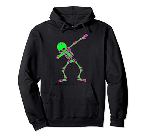 Skeleton Sweatshirt Hoodie Kind Kostüm - Halloween-Kleidung für Jungen Kinder Dabbing Skelett