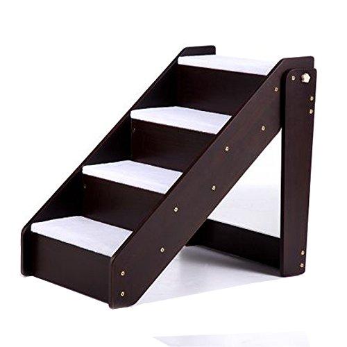 Haustiere Hölzerne Treppen Steigen Klappbare Leiter 4 Stufen Plüsch Mat