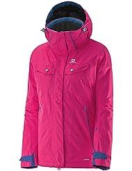 Pantalones de deporte para mujer Salomon Impulse chaqueta de nieve de costura chaquetas para niño, color Rosa - hot pink, tamaño S