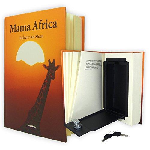BOOK-ALIKE | Caja fuerte con forma de libro | El escondite camuflado con páginas impresas reales | Caudal de acero con protección RFID para objetos de valor