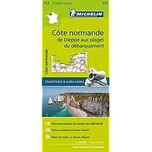 Côte normande, de Dieppe aux plages du débarquement : 1/150 000