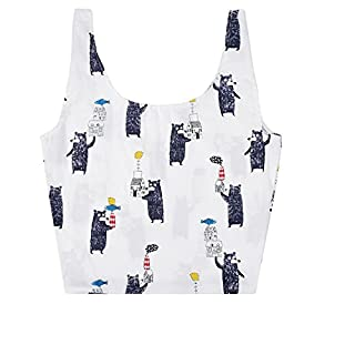 Aixin Tote Umhängetasche Natürliche Baumwolle Tragetaschen Shopper Travel Shoulder Strandtaschen Personalisierte Tasche Canvas Bag Handtaschen Lunch Boxes Kosmetiktaschen Clutch Bag (Schwarzbär)
