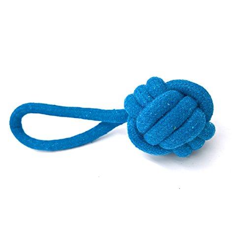petfun rb-03Natürliche Baumwolle geflochten Langlebig Hund Interaktive Spielzeuge Seil mit zwei Farben