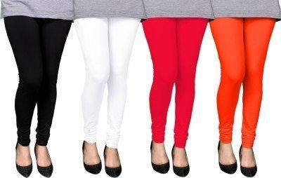 combo churidar leggings for women -churidar leggings online -Best Quality Black,Red,White,Orange Brown...