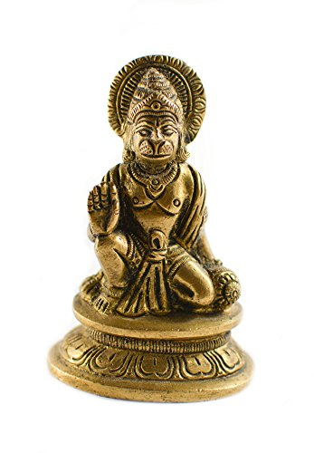 Messing Gold Ton Hanuman Statue Auto Deco, Büro Decor, Tisch Decor Figur