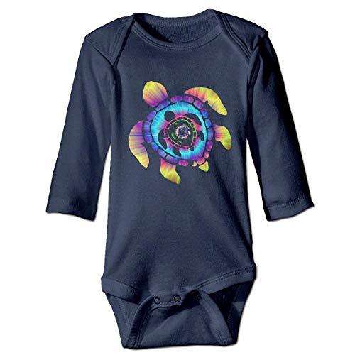 WBinHua Body bébé Body bébé garçon, Bertha Space Watercolour Turtle Baby Toddler Long Sleeve Onesies Bodysuits