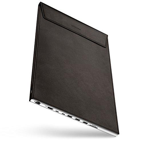 DOCKCASE Alles in Einem USB-C Hub Dockingstation mit 9 Ports und Leder Schutzhülle Case Cover Sleeve Ledertasche für MacBook Pro 15 Zoll - Braun