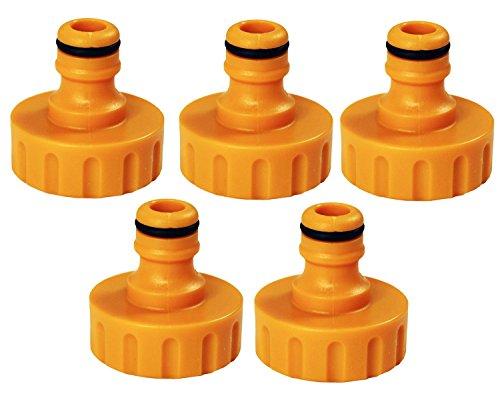 'Hozelock Raccordement morceaux Nez de robinet pour filetage extérieur pour robinets extérieure avec 1 BSP Raccord de robinet (G1), multicolore, 1 \