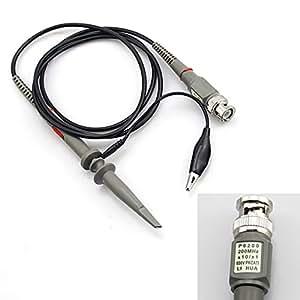 1PC Oscilloscope Scope Clip Probe Kit 200 MHz P6200 X10/X1 600V