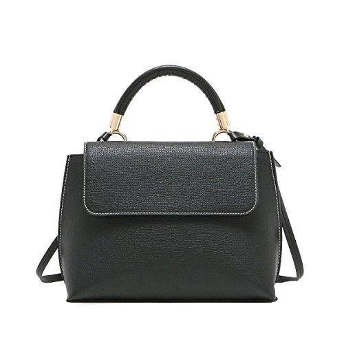 Frauen Freizeit Top Griff Schulranzen Handtaschen Taschen Handtasche Multicolor Black