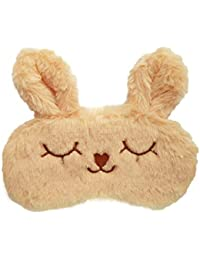 Jenna™ Cute Fur Sleeping Eye Shade Mask Cover for Insomnia, Meditation, Puffy Eyes and Dark Circles Bunny Cream