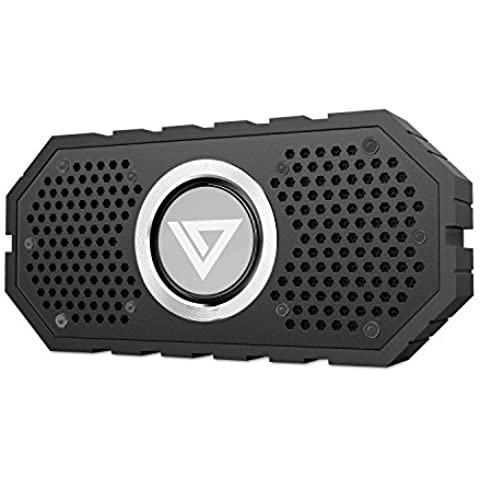 Collen Altavoz Bluetooth Impermeable(IPX6) Portátil Inalámbrico, Mic Incorporado, 8 Horas Duración de la Batería para Apple iPhone iPad, Samsung Galaxy Tab, HTC, Tablet, iOS, Android, Negro