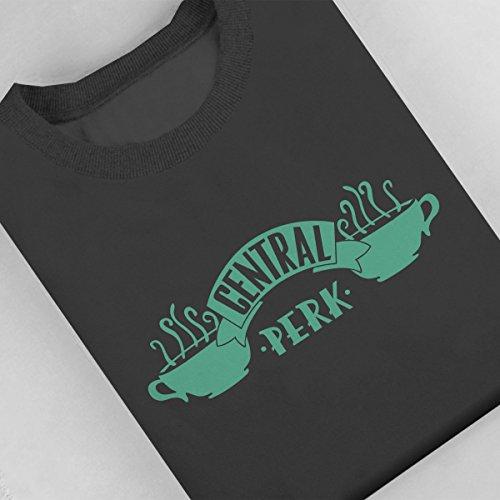 Friends Central Perk Logo Green Women's Sweatshirt Anthracite
