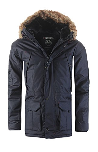 Geographical Norway Atlas Herren Winter Jacke Parka Parker Navy Gr. XL (Bücken Handschuhe)