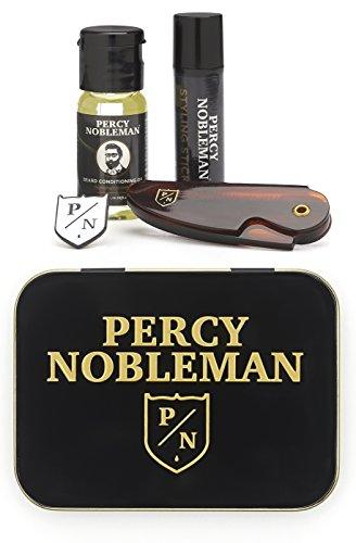 Kit Entretien de barbe par Percy Nobleman. Coffret de voyage contenant une...