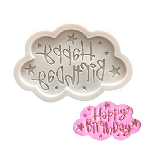 Grau Silikonform 3D Happy Birthday Alphabet Fondant Sugarcraft Kuchen Backform DIY Cupcake Topper Dekorieren Werkzeuge von SamGreatWorld