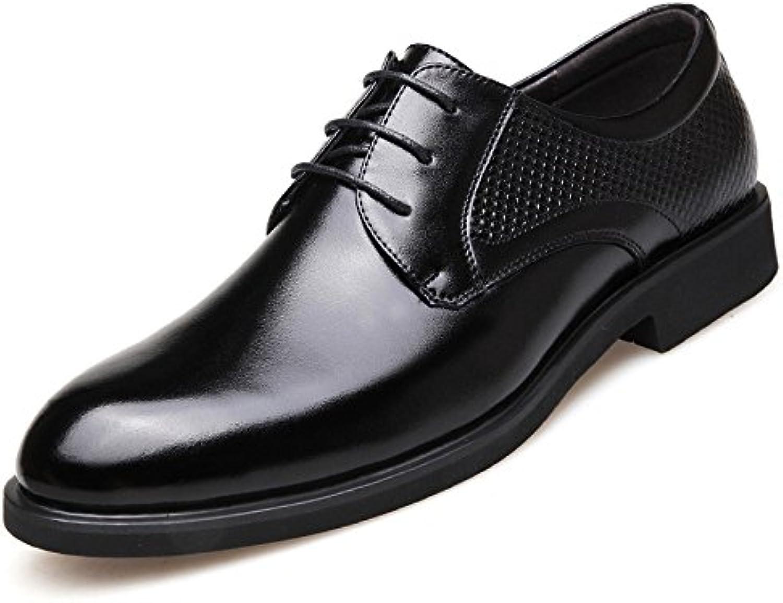 LQV Sommer Herren Lederschuhe Business British Casual Atmungsaktive Kleid Runde Kopf Schuhe