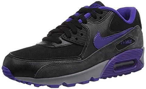 Nike Air Max 90 Essential, Chaussures de running femme - Noir (Blk/Crt Prpl-Hypr Grp-Anthrct), 38.5