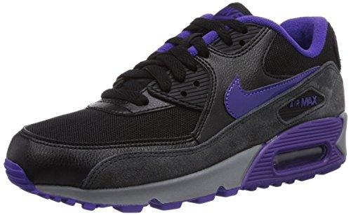 Nike Air Max 90 Essential 616730-010 Unisex-Erwachsene Laufschuhe, Schwarz (Blk/Crt Prpl-Hypr Grp-Anthrct) 36.5 (90 Nike Schwarz Essential Air Max)
