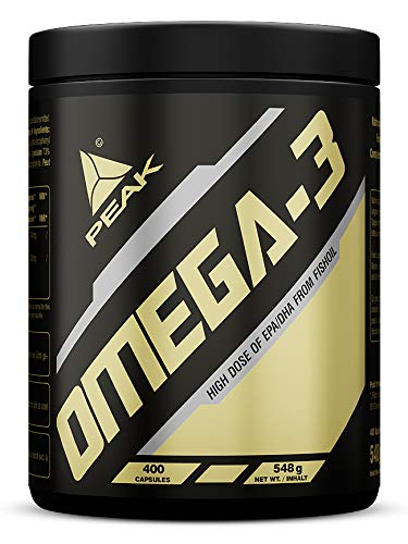 PEAK OMEGA 3 | 400 SOFTGEL-Kapseln | Fischöl | Hochkonzentriert | Essentielle Fettsäuren - Softgel-kapseln