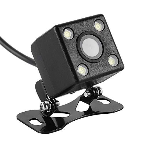 Wilktop Rückfahrkamera Auto, Nachtsicht mit 4 Leistungsstarken LED Lampen Rückfahrkamera IP67 Wasserdicht mit Nachtsicht 120°Winkel Rückkamera für Auto