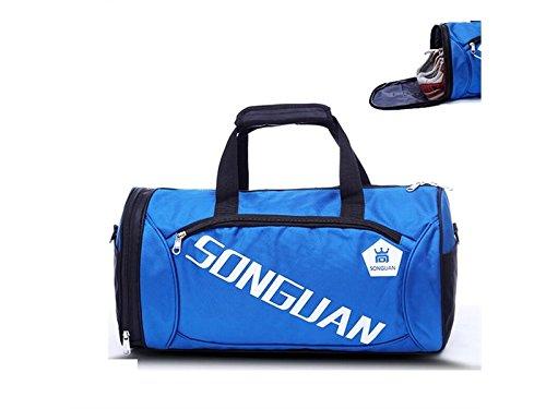 HFjingjing Sac à Dos de randonnée, Grande capacité, Sac de Sport, Sac de Sport, Sac de Voyage, Sac de Sport avec Compartiment à Chaussures pour Homme et Femme Bleu