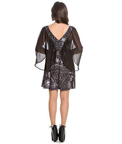 Spin Doctor Lucille Alternative Occult Goth Mini Dress – UK 16 (XL)